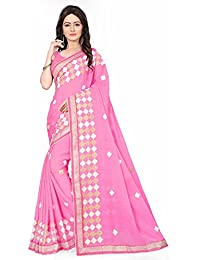 Sarees For Women Party Wear Designer Today Best Offer Sale Buy Online In Low Price Sale Pink Color Chiffon Fabric...