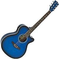 Guitarra Electroacústica Single Cutaway de Gear4music - Azul