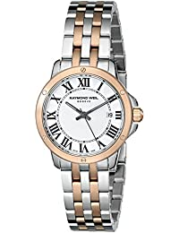 RAYMOND WEIL WOMEN'S 28MM TWO TONE SWISS QUARTZ MOP DIAL WATCH 5391-SP5-00300