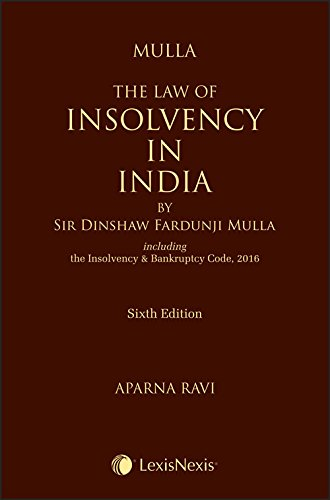 Mulla the Law of Insolvency in India