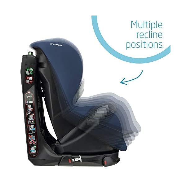 Maxi-Cosi Axiss Toddler Car Seat Group 1, Swivel Car Seat, 9 Months-4 Years, Nomad Blue, 9-18 kg Maxi-Cosi Toddler car seat, suitable from 9 months to 4 years (9 - 18 kg) Swivels 90 degree degrees allows for front-on access to get your toddler in and out of the car more easily Maxi-Cosi Axiss car seat has 8 comfortable recline positions 6