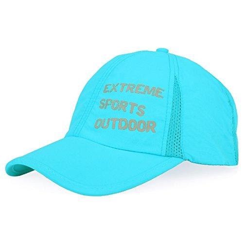 Hüte für Damen und Herren Sonnenschutz Sonnencreme Baseball cap Outdoor Freizeitaktivitäten hüte Kappe, verstellbar, Sky Blue (Blue Pirat Mantel)