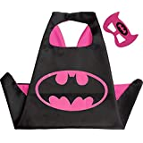 kidroos Double sided Kids or adults mini funny batman comic superhero costume with mask and cape