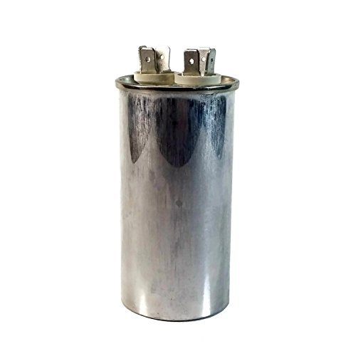 Midwest Herzen Motor Run Kondensator Single MFD Dual Spannung 370/440Volt, Rund, silber, 25 MFD -