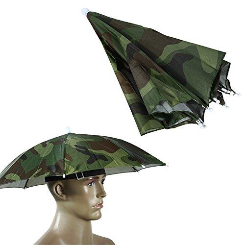 Little Sporter Angeln Regenschirm Angeln Mütze Camping Neuheit Kopfbedeckung Mütze Angeln Regenschirm Kopf Sonnenschirm Hut Regenschirm Hut Camouflage