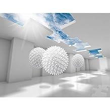 Fototapeten 3D   Blau 352 X 250 Cm Vlies Wand Tapete Wohnzimmer  Schlafzimmer Büro Flur Dekoration