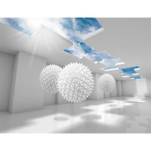 *Fototapete 3D – Blau 396 x 280 cm Vlies Wand Tapete Wohnzimmer Schlafzimmer Büro Flur Dekoration Wandbilder XXL Moderne Wanddeko – 100% MADE IN GERMANY – Runa Tapeten 9182012a*