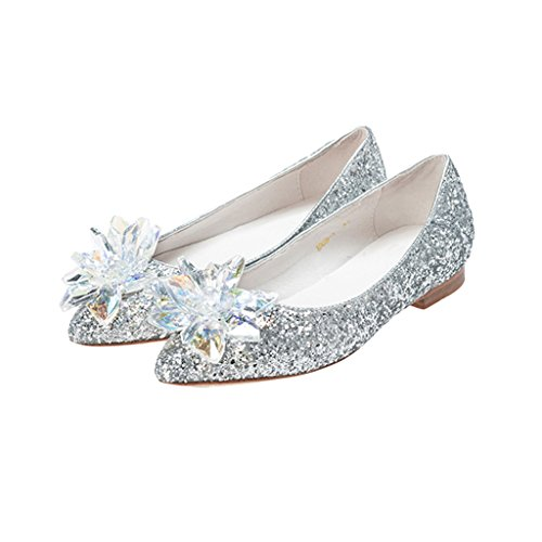 Pettigirl Filles Briller Fête Mariage Chaussures Argent