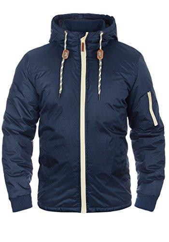 BLEND Carl Herren Übergangsjacke Windbreaker Jacke mit Kapuze aus hochwertiger Materialqualität, Größe:M, Farbe:Blue Nights (74627)