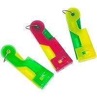 3 automatische Nadeleinfädler aus Kunststoff, Farben: grün, gelb und pink
