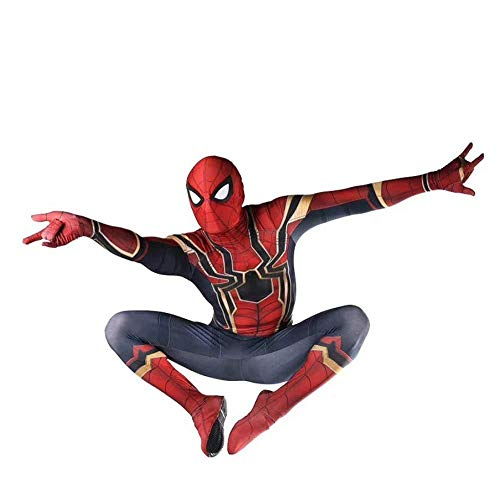 -Man Siamesische Strumpfhose Halloween Charakter Camouflage Spielt Kostüm - Kopfbedeckungen Können Getrennt Werden Rot S-XXL,Red-L ()