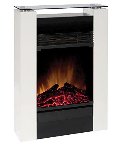 EWT MCFP15GW-E Gisella white elektrisches Kaminfeuer mit Fernbedienung