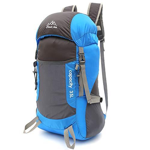 Mogomiten zaini da trekking, 35l viaggio zaino trekking escursionismo alpinismo arrampicata campeggio per uomo donna, sportivi unisex in nylon poliestere da trekking borse, blu