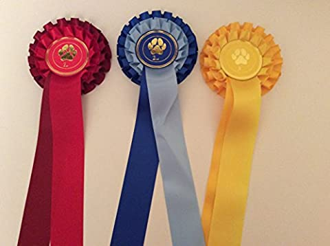 2 Tier Rosettes 1st - 3rd Dog Paw Centre (Tiers