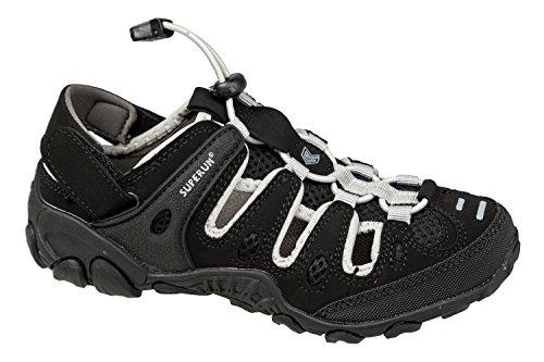 GIBRA® Herren Trekkingsandalen, mit Klettverschluss, schwarz/grau, Gr. 41-46 Schwarz/Grau