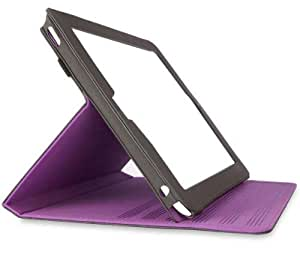 Belkin Flip Folio Protective Case with Stand Capability for iPad 2G - Purple/Grey