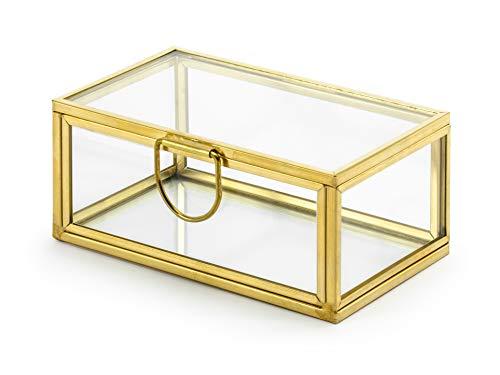 Hochzeit Ringerhalter aus Glas mit goldenen Kanten (Gold Füllen Ehering)