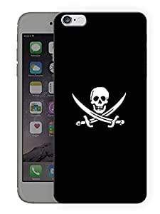 "Humor Gang Pirates Skull Printed Designer Mobile Back Cover For ""Apple Iphone 6 PLUS - 6S PLUS"" (3D, Matte Finish, Premium Quality, Protective Snap On Slim Hard Phone Case, Multi Color)"