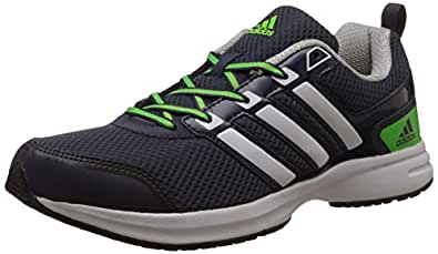 adidas Men's Ezar 1.0 M Blue, White and Green Mesh Sport Running Shoes - 7 UK