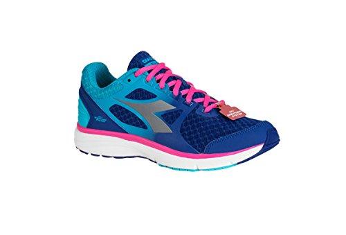Diadora Scarpa Running Sneaker Jogging Donna Run 505 w Deep ultramarine/pink flu Scarpe Royal