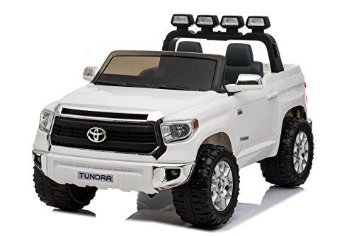 Toyota Tundra XXL, Blanco, producto BAJO LICENCIA, con mando a distancia 2.4Ghz, 24V, 2 X 200W