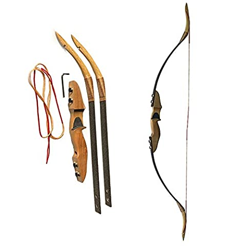 40lbs Chasse au tir à l'arc Arc recourbé Arc traditionnel Longbow