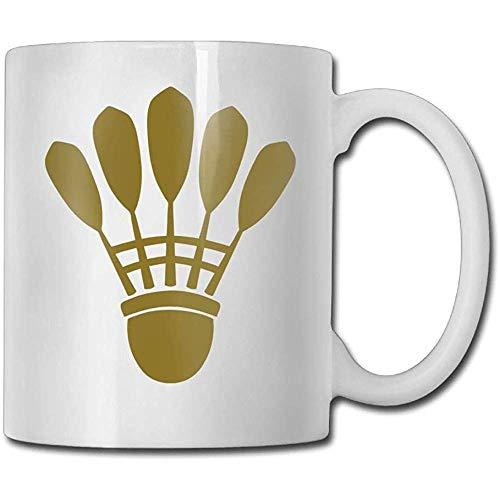 Kupferne Badminton-Kaffeetasse-Verlobungs-Geschenk-Keramische Tee-Schalen-Kaffeetasse, Das Perfekte Geschenk Für Familie