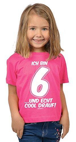 rtstag 6 Jahre alt T-Shirt - Geschenk Idee Kindergeburtstag Kindershirt Ich bin 6 …und echt cool drauf! 6 Geburtstagsgeschenk Kinder lieber Spruch bedruckt in pink M : ) (1 Jahr Alt Geburtstag Ideen)