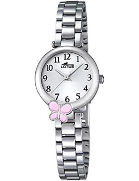 LOTUS Jugend-Uhr Junior Collection Analog Edelstahl-Armband silber Chronograph-Uhr Ziffernblatt silber UL18262/2