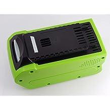 INTENSILO batería Li-Ion 5000mAh (40V) para herramienta eléctrica Greenworks cortacésped de cuchilla doble 49cm, G-MAX 40V, soplador y 24252, 29282...