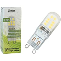 1x National Electronics® lampadina | G9 3W 250 lumen LED | 270° lampada 230V AC bianco caldo