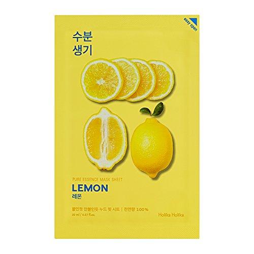 Holika Holika - Pure Essence Mask Sheet Lemon Zitrone gesichtsmaske Korean Kosmetik 20ml / 1pc