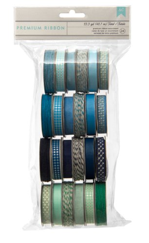 American Crafts grograin Special Delivery Boy Value Pack Premium Band 24/spools-Grosgrain, Satin, Sheer und Bindfäden Satin Boys Band