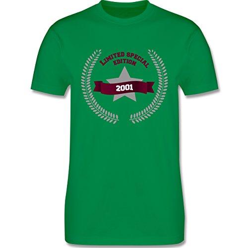 Geburtstag - 2001 Limited Special Edition - Herren Premium T-Shirt Grün
