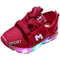 BaZhaHei Zapatillas de Niños Niña Bebé llevó Zapatos Ligeros niños Ligeros Sandalias de Deporte al Aire Libre Luminoso Zapatos para niños y niñas Zapatos Coloridos y radiantes Zapatos con Flash LED