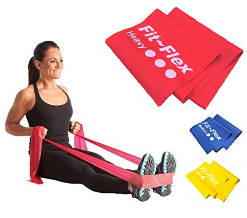 b142a0ef7a27 Resistance Exercise Band | 2m Length | 3 Flex Options | For Women and Men