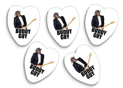 Buddy Guy 5 X Love Heart Gitarre Picks Band Plektrons (Buddy Guy-guitar Pick)