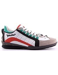 Scarpe Uomo Sneakers DSQUARED2 551 Vitello Sport Bianco Nero Corallo Italy  Nuove 882f11ff9cc
