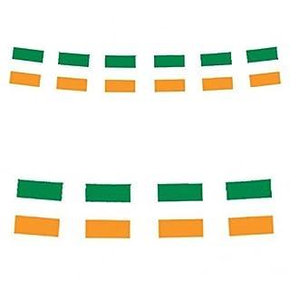 11 irische Flaggen - 12 ft (Fuß) Länge