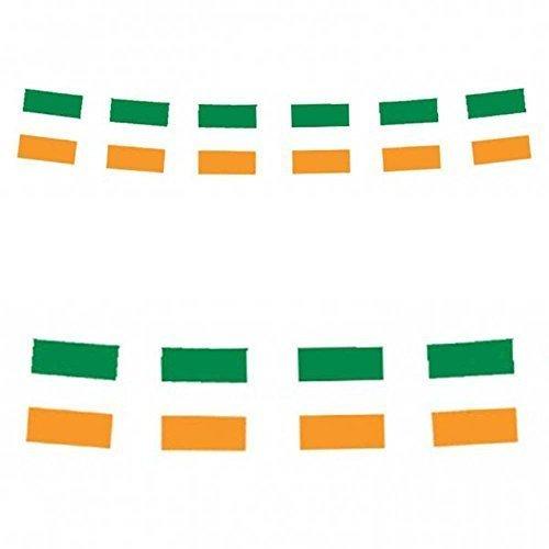 11 irische Flaggen - 12 ft (Fuß) Länge (St Patricks Day Fahne Garten)