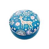 Elch Flamingos Muster Runde Aufbewahrungsbox Tier-Schmuckkästchen aus Weißblech Mini Aufbewahrungsboxen für Mädchen Geschenk Schreibtisch Organizer, blau, C:小号麋鹿