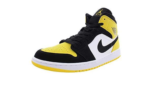 Nike Air Jordan 1 Mid SE, Jaune (Noir/noir/jaune/blanc.), 51 EU ...