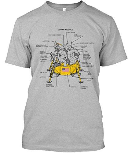 teespring Apollo Lunar Lander Colored T-Shirts Tshirt - 2XL - Sport Grey - Standard Unisex T-Shirt