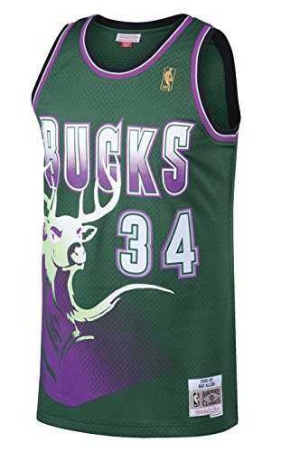 Ray Allen Milwaukee Bucks Mitchell & Ness NBA Throwback Jersey - Green (Damen Star All Short)