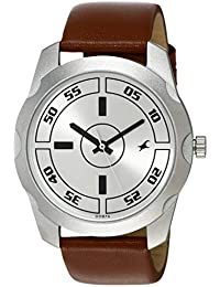 Fastrack Casual Analog Silver Dial Men's Watch -NK3123SL02