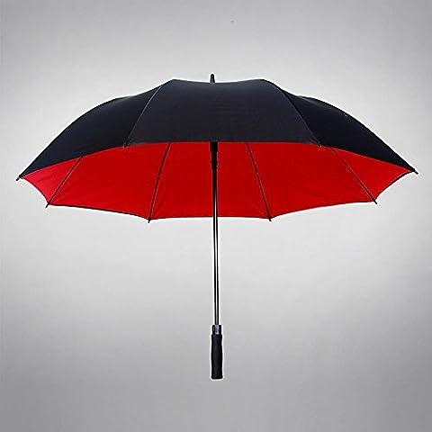 KHSKX Super long handle umbrella, automatic umbrella man creative business double, triple rain double wind-resistant umbrella , 130cm double -