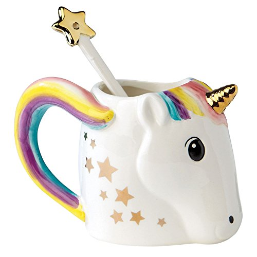 Be A Unicorn Mug with Metallic Star Stirrer in Gift Box