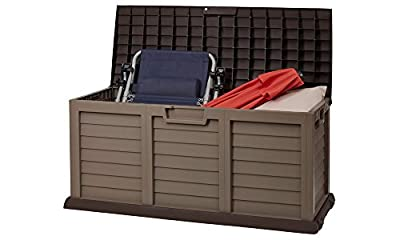 Outdoor Waterproof Plastic Garden Storage Shed / Chest Box Container - - low-cost UK light shop.