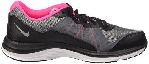 Nike Unisex-Kinder Dual Fusion X 2 (Gs) Laufschuhe Silber (Black/Metallic Silver-Clear Grey-Hyper Pink 001)