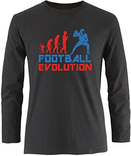 EZYshirt® Football Evolution Herren Longsleeve Schwarz/Rot/Blau